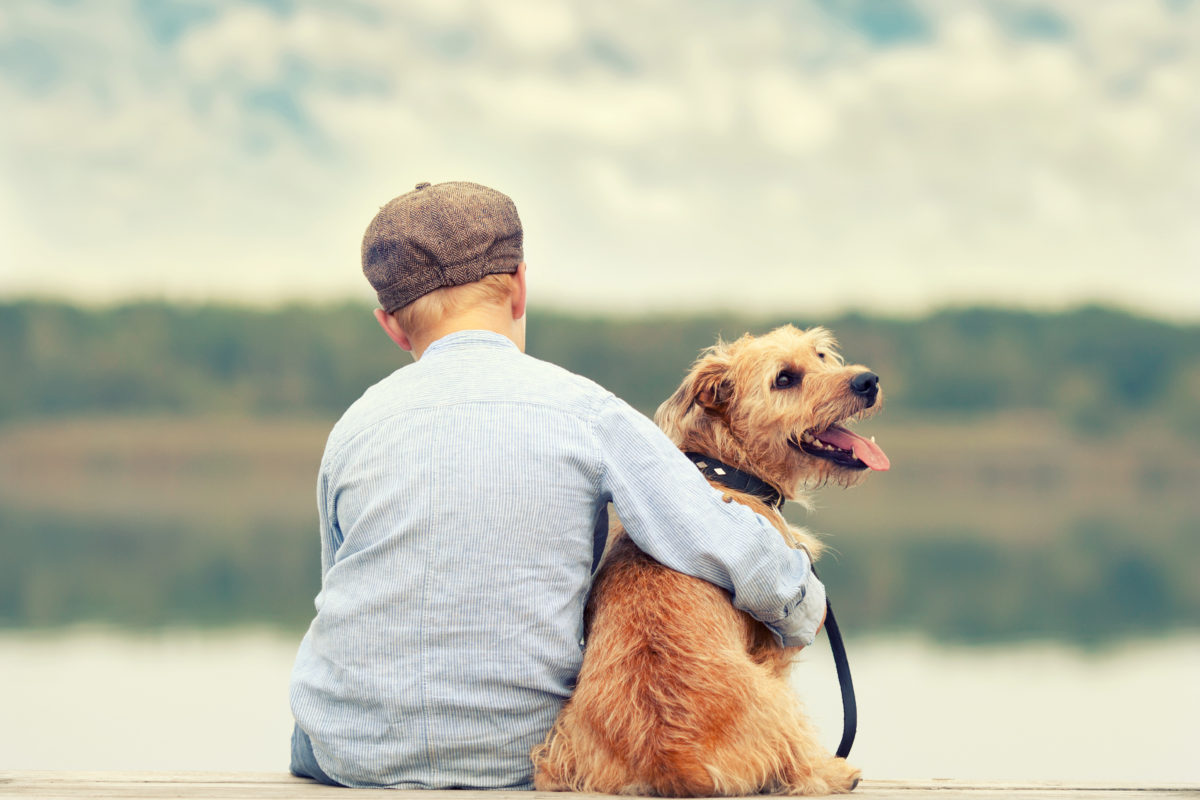 Boy with a dog 1200x800 - Five Benefits of Dogs in Children's Mental Health Services