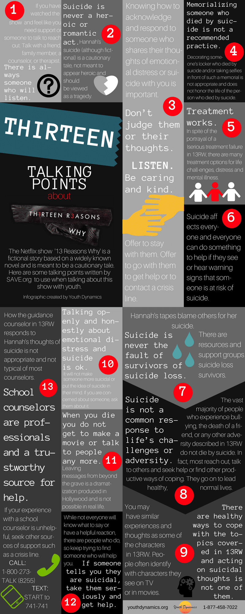 13 Talking Points 2 - [Infographic] 13 Reasons Why Talking Points