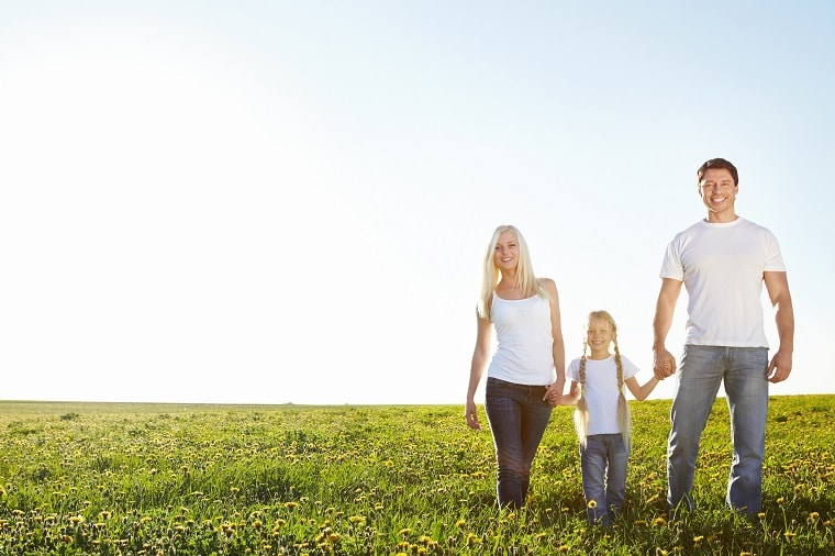 Child with Family in Field 1 - Establishing Yourself as a Parent