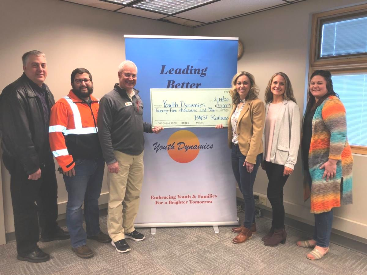 BNSF Donation - BNSF Railway Foundation Awards $25,000 Grant to Youth Dynamics to Help Families Pay for Group Home Care