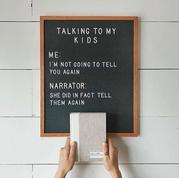 Talking to my kids 2 - Letter Boards to Celebrate the #MomLife